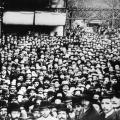 Der Beginn einer langen Tradition: Maifeier in Dresden am 1. Mai 1890.