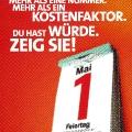 Der Menschenwürde verpflichtet: DGB-Plakat 2004.