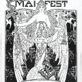 """Göttin """"Arbeit"""": Der """"Vorwärts"""" lädt 1899 zum Maifest."""
