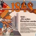 Der DGB erinnert 1980 mit einem Plakat an die sozialpolitischen Forderungen der Arbeiterbewegung im Umfeld der Revolution von 1848.