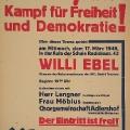 Kulturveranstaltung von Ostberliner Sozialdemokraten anlässlich des 100. Jahrestags der Revolution.