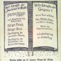 SPD-Wahlplakat anlässlich der Reichstagswahl von 1912: Das Allgemeine Wahlrecht, auch auf Länder- und kommunaler Ebene, steht an der Spitze der Forderungen.