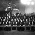 SPD-Fraktion im Reichstag vor dem Ausbruch des Ersten Weltkriegs.