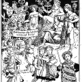 Illustration zum ersten Mai 1901. Der letzte Satz des Kommunistischen Manifests…