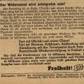 Auf einem Flugblatt aus dem Jahr 1954 wird zum Sturz der Regierung Ulbricht aufgerufen.