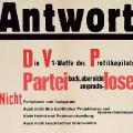 Die SPD betont auf einem Werbeplakat 1947 den Anspruch, Personalentscheidungen unabhängig vom Parteibuch zu treffen,...