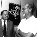Otto Reinhold, Rektor der Akademie für Gesellschaftswissenschaften beim ZK der SED, und Erhard Eppler, Leiter der SPD-Grundwertekommission (1987).