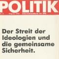 Das SPD/SED-Streitpapier, 1987.