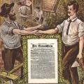 Aus Richtungsgewerkschaften wie beispielsweise dem Zentralverband der Maurer Deutschlands oder dem Deutscher Metallarbeiter-Verband...