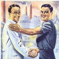...entwickeln sich nach 1945 branchenspezifische Gewerkschaften wie die IG Metall (hier ein Plakat aus dem Jahr 1953).
