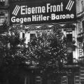 """Kampfansage """"Gegen Hitler-Barone""""."""