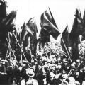 Kundgebung der Eisernen Front 1932 im Berliner Sportpalast.