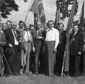 Viele SPD-Ortsvereine haben eine lange Tradition: 80-jähriges Vereinsjubiläum im Bezirk Ostwestfalen-Lippe (etwa 1958).