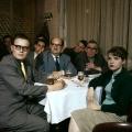 Gemütliches Beisammensein: Ortsvereinsversammlung des SPD-Unterbezirks Bonn 1959. Links abgebildet ist der langjährige Vorsitzende Rudolf Maerker, der nach 1989/90 als IM der DDR-Staatssicherheit enttarnt wurde.