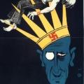 Ein Plakat zur Reichstagswahl am 31. Juli 1932 warnt die Arbeiterschaft vor Monarchie und Nationalsozialismus. Die Krone mit dem Hakenkreuz trägt Reichskanzler Franz von Papen.