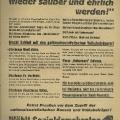 Gegen Hitler, Goebbels und Röhm: Die Sozialdemokraten verhöhnen den Wahlslogan der Nationalsozialisten.