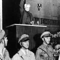 """Innenminister Severing schwört die """"Eiserne Front"""" zum Widerstand gegen den Nationalsozialismus ein."""