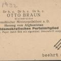 """Nach seiner Amtsentlassung im Zuge des """"Preußenschlags"""" muss Otto Braun…"""
