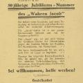 """Nach Inflation, vorübergehender Umbenennung und zurückgegangener Auflage meldet sich """"Der Wahre Jacob"""" zurück: 1929 wirbt eine Flugschrift für neue Leser."""
