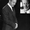 Tod eines Vorbilds: Björn Engholm während der Trauerfeier für Willy Brandt.