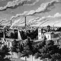 Rauchende Schlote in Berlin 1854: Mit der Industrialisierung verändert sich das Bild vieler Städte.