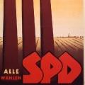 ...als auch in der US-amerikanischen Besatzungszone wirbt die SPD bei Wahlen mit rauchenden Schloten (1946).