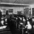 Die Parteischule in Berlin in ihrem Gründungsjahr 1906.
