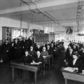 Klasse der SPD-Parteischule im Jahr 1908.