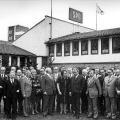 Gruppenfoto mit Willy Brandt und Helmut Schmidt im März 1974.
