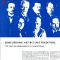 Nicht zuletzt wird er auch immer mit der Sozialdemokratie identifiziert werden, hier anlässlich des 140. SPD-Jubiläums.