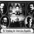 Während der Novemberrevolution 1918 übernimmt Ebert den Vorsitz im Rat der Volkbeauftragten, der in der Übergangsphase vom Deutschen Kaiserreich zur Weimarer Republik die Regierungsgewalt innehat.