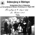 Postkarte aus Schwarzburg, wo die Weimarer Verfassung unterzeichnet wurde.