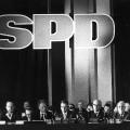 Der SPD-Vorstand während der zum Teil hitzigen Debatte über das Programm.