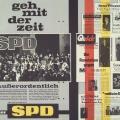 SPD-Flugblatt mit Reaktionen der Presse.