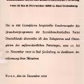 Die Sonderausgabe des Grundsatzprogramms wird mit Unterschrift des SPD-Vorsitzenden Erich Ollenhauer verschickt.