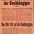 Als Reichskanzler geht Bauer gegen Republikfeinde von 'links' und 'rechts' vor: Plakat als Reaktion auf die massiven Unruhen am 13. Januar 1920 während der Reichstagsdebatte über das Betriebsrätegesetz.