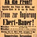 Unterstützung erfuhr die Reichsregierung nicht nur von freien, sondern auch von christlichen Gewerkschaftern.