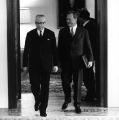 Bundeskanzler und Bundespräsident unter sich: Willy Brandt und Gustav Heinemann.