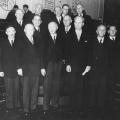 Schneller Erfolg in der politischen Karriere: Heinemann als Bundesminister des Inneren im Kabinett Konrad Adenauers 1949.