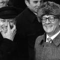 Staatsbesuch in der DDR 1981: Helmut Schmidt und Erich Honecker.