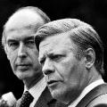 Mit dem französischen Präsidenten Valéry Giscard d'Estaing, der ihm ein Freund wird, bringt Schmidt die Europäische Währungsunion auf den Weg.