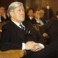 Außer Dienst: Helmut Schmidt wird im Dezember 1983 Ehrenbürger von Hamburg – Feier in der Bürgerschaft.