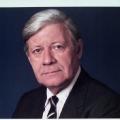 Helmut Schmidt wirbt 1988 für die Wahl des SPD-Kandidaten Henning Voscherau zum Ersten Bürgermeister von Hamburg.