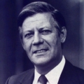 Bundestagswahl 1972: Wahlplakat mit Helmut Schmidt, nun Finanzminister im Kabinett Brandt.