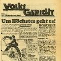 Wahlaufruf der SPD zu den Reichstagswahl von 1930. Der Wahlkampf der Sozialdemokratinnen und Sozialdemokraten konzentriert sich auf die erstarkte NSDAP