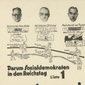 Reichstagswahl 1932: Die SPD thematisiert die fallenden Löhne seit dem Ende der SPD-Regierung (1930) und macht auf die nationalsozialistische Gefahr aufmerksam.