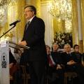 """Der polnische Präsident Branislaw Komorowski bei der Gedenkveranstaltung """"Europa, Kontinent der Versöhnung?"""", 40 Jahre nach der Unterzeichnung des Warschauer Vertrags."""