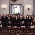 ...Unterzeichnung des Warschauer Vertrags zwischen Polen und der Bundesrepublik Deutschland durch Walter Scheel, Willy Brandt, Jozef Cyrankiewcz und Stefan Jedrychowski.