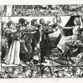 """""""Wissen ist Macht. Die Freiheit überreicht Arbeitern das Geistesschwert"""". Flugblatt  mit Hinweis auf Lassalle zum 1. Mai 1897."""