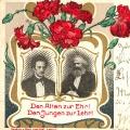 Geburtstagsgrüße mit Ferdinand Lassalle und Karl Marx als Motiv (undatiert).